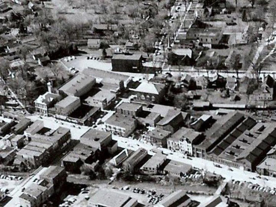 An aerial shot of Baldwinsville from the 1930's